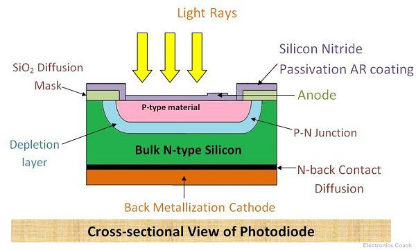 Cross Sectional View of Photodiode