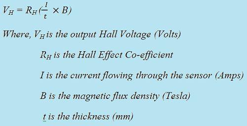 Eq hall effect sensor