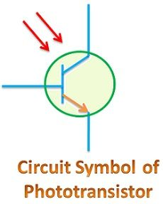 Circuit symbol of phototransistor
