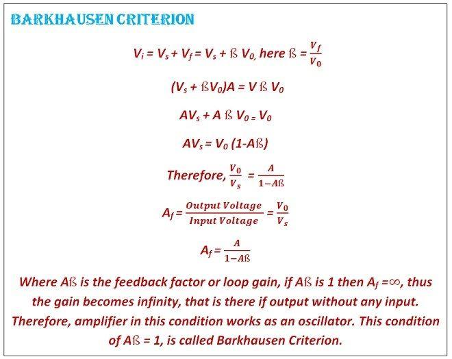 barkhausen criteria