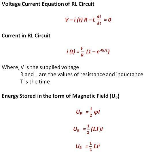 equation of RL Circuit