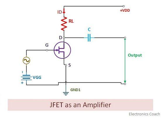 jfet as an amplifier