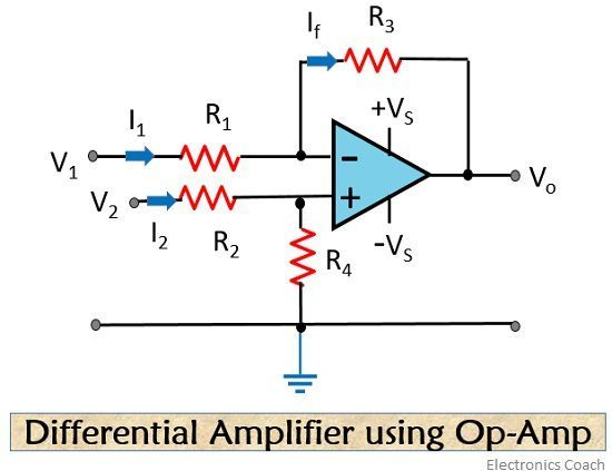 differential amplifier using op-amp
