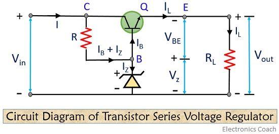 circuit of transistor series voltage regulator