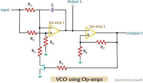 vco circuit using op-amp