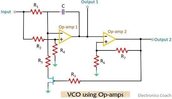 vco circuit using op-amp