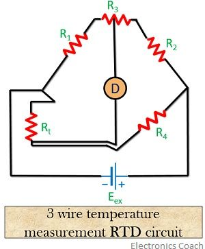3 wire circuit of resistance thermometer