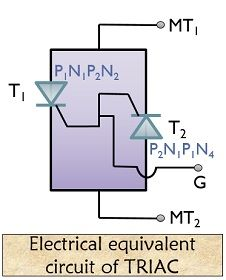 electrical equivalent of triac