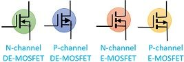symbols of MOSFET