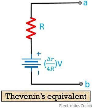 thevenins equivalent for slightly unbalanced circuit