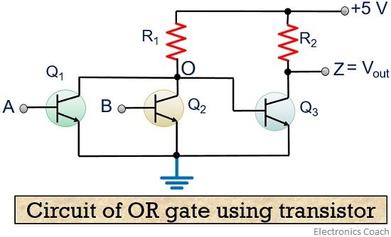 transistor OR gate circuit
