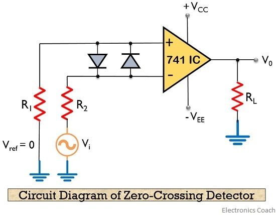 circuit diagram of zero-crossing detector