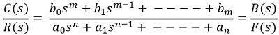 transfer function eq 1 routh-hurwitz's criterion