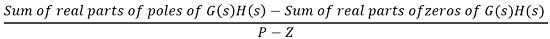 equation for location of asymptotes