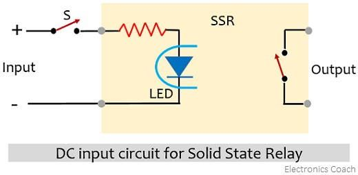 dc input circuit for solid state relay