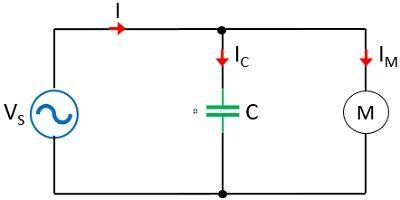 circuit representing capacitor bank