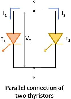 parallel connection of thyristors