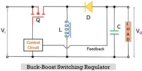circuit of buck-boost switching regulator