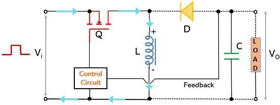 operation of buck boost switching regulator1