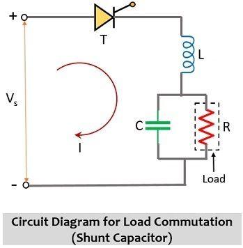 circuit diagram for load commutation - shunt capacitor