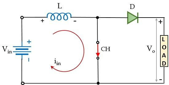 mode 1 operation of boost converter